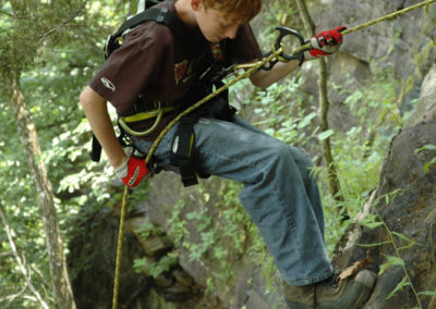 rock climbing the Upper Buffalo River